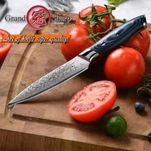 GRANDSHARP 5 인치 유틸리티 나이프 다마스커스 주방 나이프 67 레이어 일본 다마스커스 스테인레스 스틸 VG 10 요리 도구 나이프