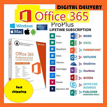 Microsoft Office 365 Pro Plus 2019 LIFETIME Account 5 Pc / 5 Mac & 5TB Fast Shipping Fastest Delivery - Guaranteed Product!