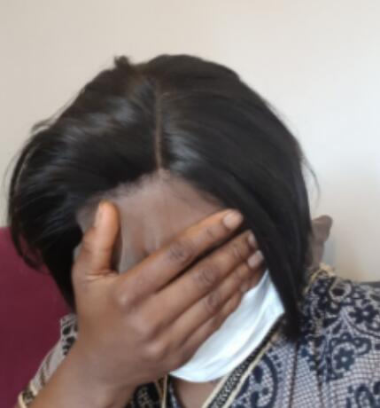 Pixie Cut Wig Lace Part Human Hair photo review