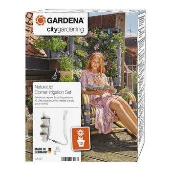 Gardena 13157-20 NatureUp Set riego Esquina Grifo Para regar 12 plantas / jardineras esq con suministro agua