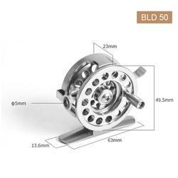 플라이 낚시 휠 릴 CNC 머신 커팅 대형 아버 다이 캐스팅 알루미늄 플라이 릴 50 60mm 기어비 1:1 낚시 오른쪽 H