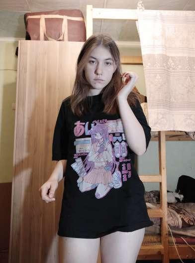 Sommer Japanese girls pattern Weibliche T Ästhetische Lose Frauen T-shirt Streetwear Damen Top styles Gothic T-shirts photo review