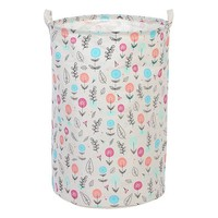 Laundry basket Printed Flowers 111867|Foldable Storage Bags|   -