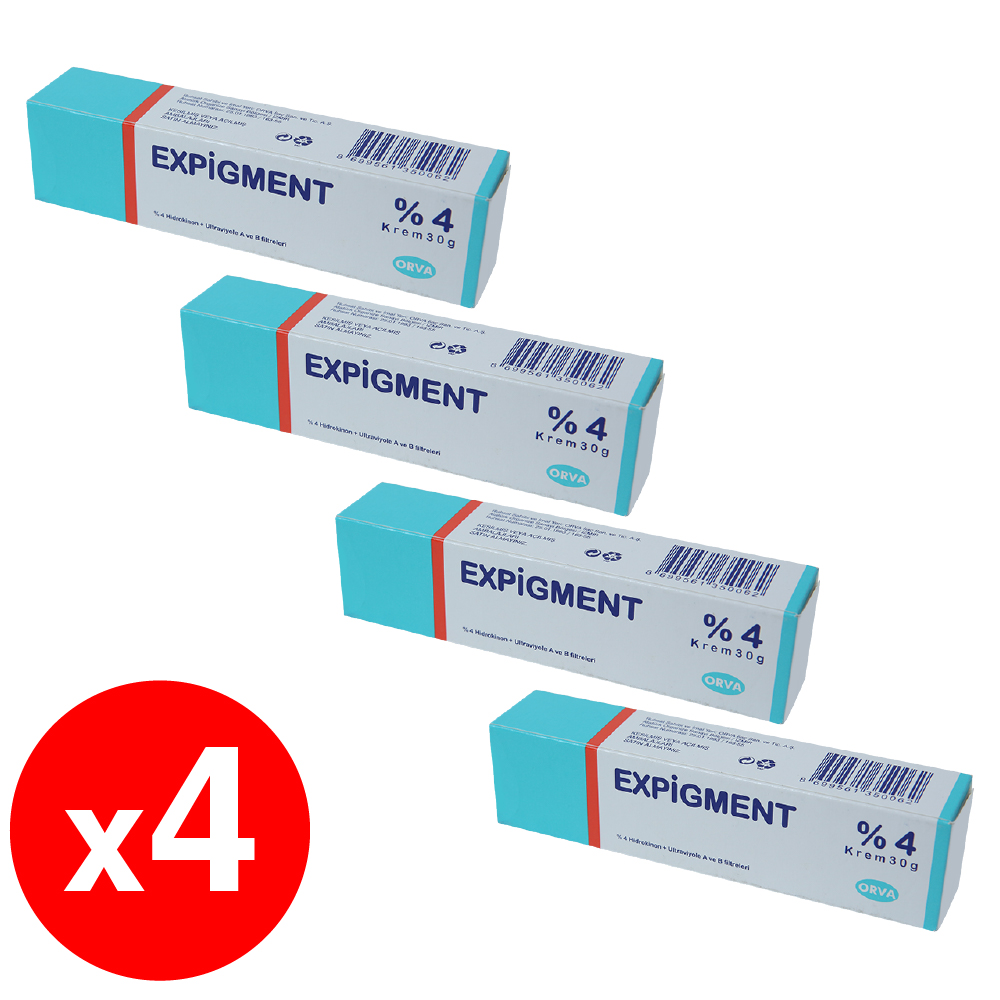 Expigment 30g 1 Self Hydroquinone 4% Cream For Skin Bleaching Skin Lightening Whitening Skin Melasma Treatment - 4 Pack