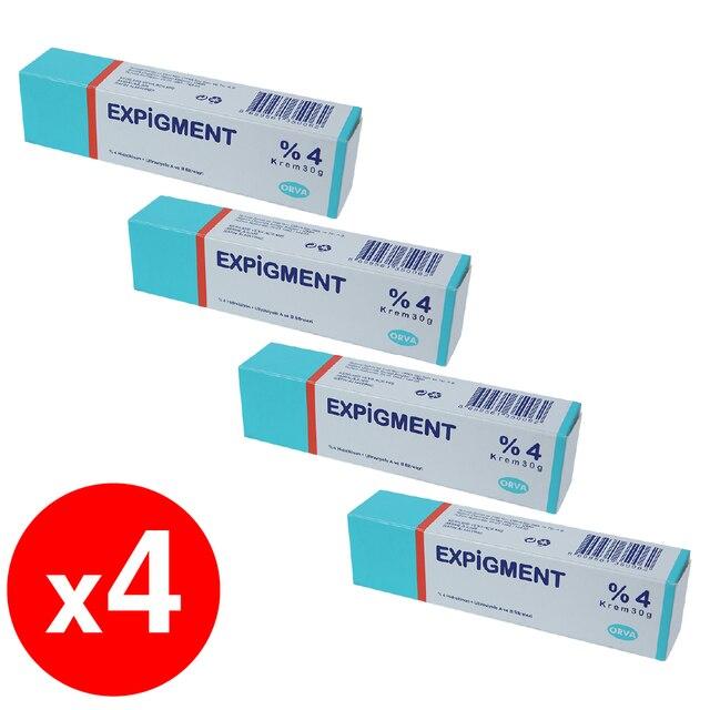 Expigment 30g 1oz Hydroquinone 4% Cream For Skin Bleaching Skin Lightening Whitening Skin Melasma Treatment - 4 pack