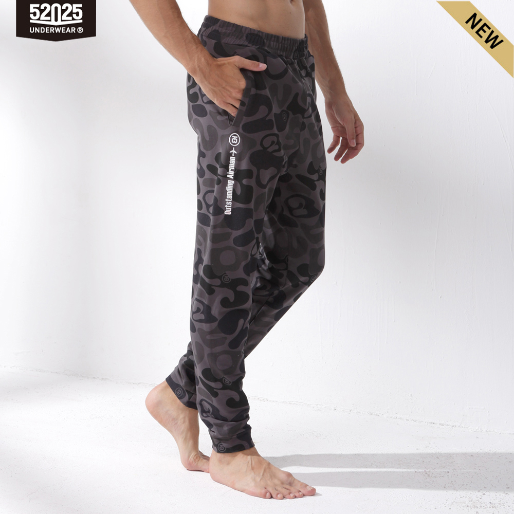Pajama Sports-Pants Home-Trousers Camouflage Cotton Long Side-Pockets Men