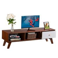 Mid Century TV Stand with Drawer TV Console Cabinet for Living Room, Media Furniture Wood Storage Console Entertainment Center
