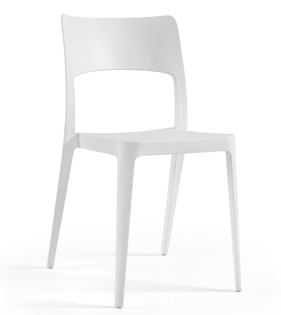 Chair VANESA, Stackable, Polypropylene White *
