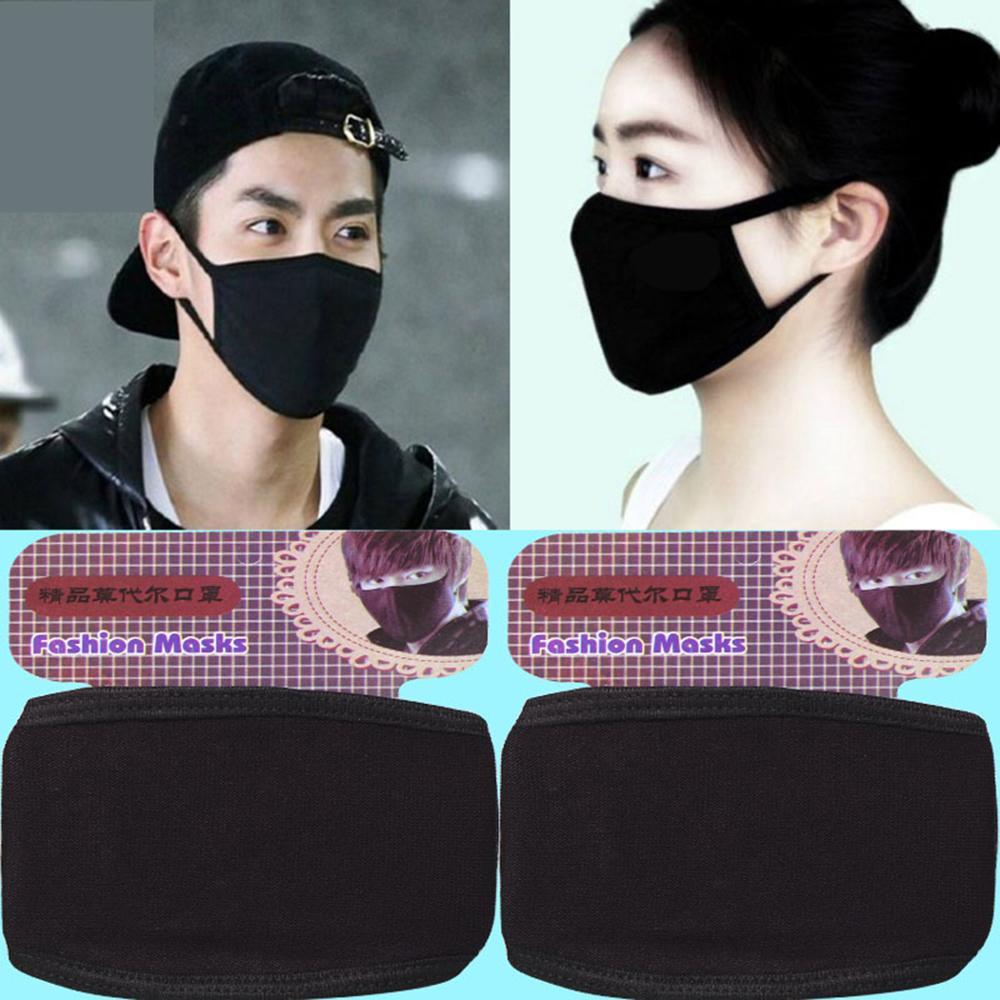 10pcs/lot New Men Women Anti-Dust Masks Unisex Breathable Soft Cotton Modal Facce Mask Windproof Mouth-muffle Washable Masks