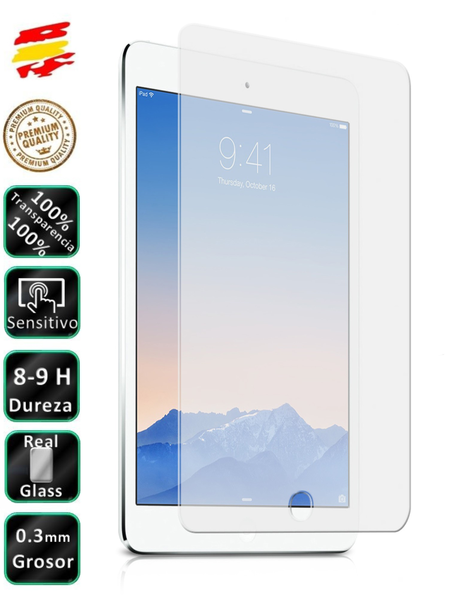 For Apple IPAD AIR 1 Tempered Glass Screen Glass for Tablet|Phone Screen Protectors| |  - title=