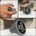خاتم رجالي من الفضة ذو جودة خاصة من العثماني Tuğra