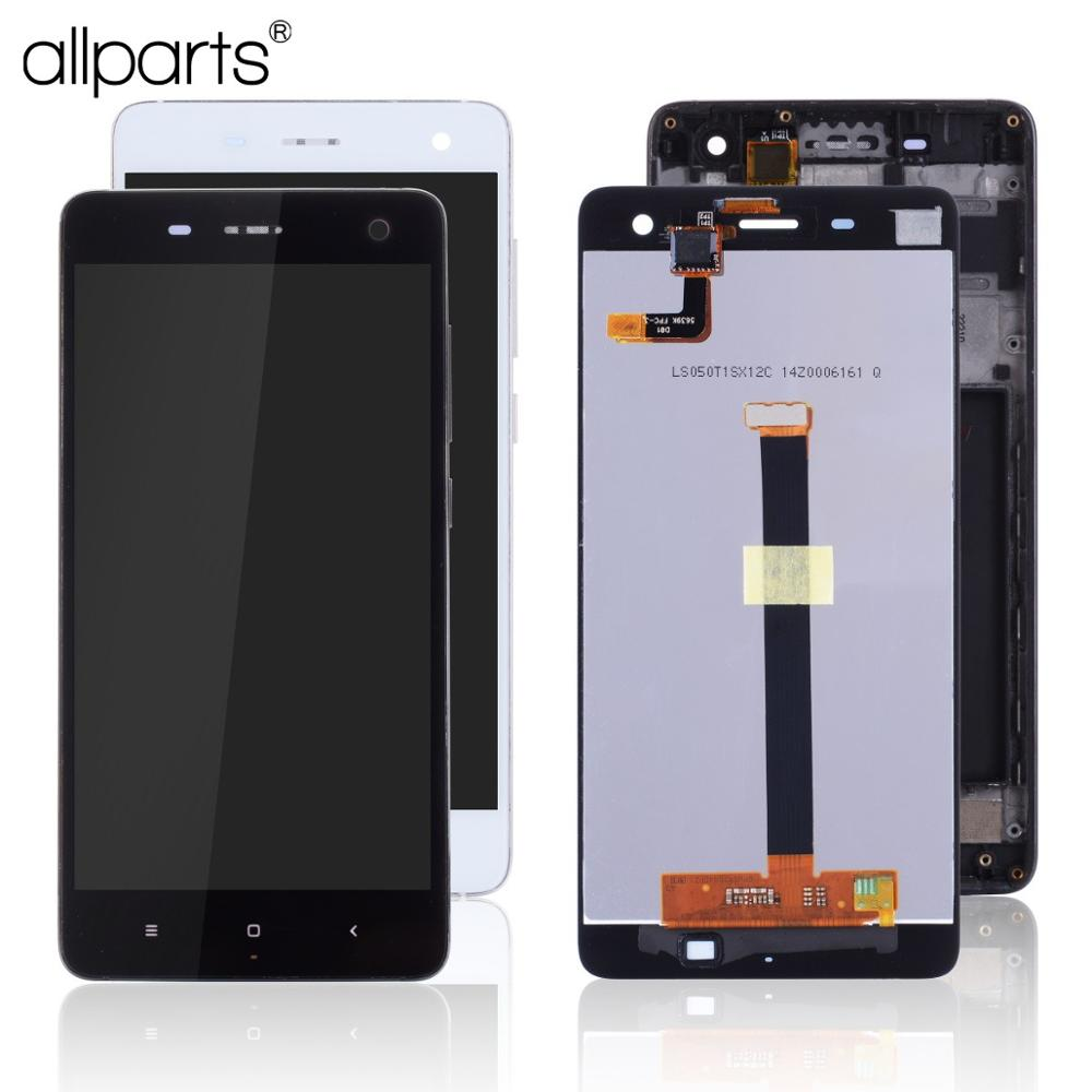 Display For Xiaomi Mi4 LCD Touch Screen Digitizer With Frame Original Replacement Black White 5.0 Inch For Xiaomi Mi 4 Display