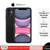 """Apple iPhone 11 (64GB ROM, 4GB RAM, Negro, Pantalla 6,1"""", iOS, Libre) [Teléfono Móvil Versión EU] Plaza España, Movil, Moviles"""