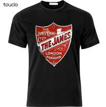 James motocicleta empresa vintage estilo t camisa preto