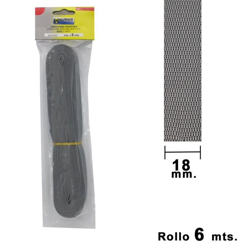 Tape Blind Wolfpack Gray 18mm. Roll 6 Meters