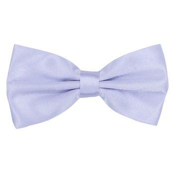 Men's bow tie (cotton, Lilac) 52708