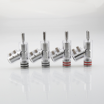 New Hi-End Rhodium Plated LOCK SPEAKER CABLE BANANA PLUG CONNECTOR ,100% high quality 1