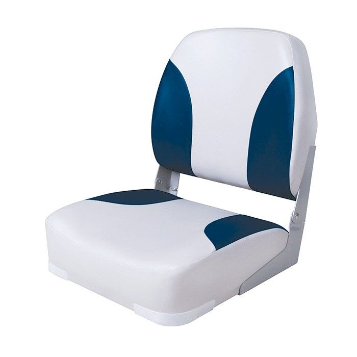 Armchair Folding Soft Classic Low Back Seat, Gray/blue 75102GB