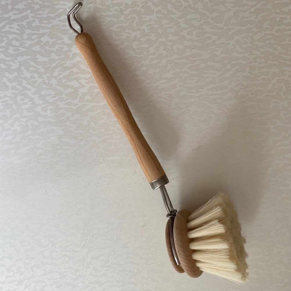 Natural Cleaning Brush Wooden Handle Kitchen Cleaning Tool