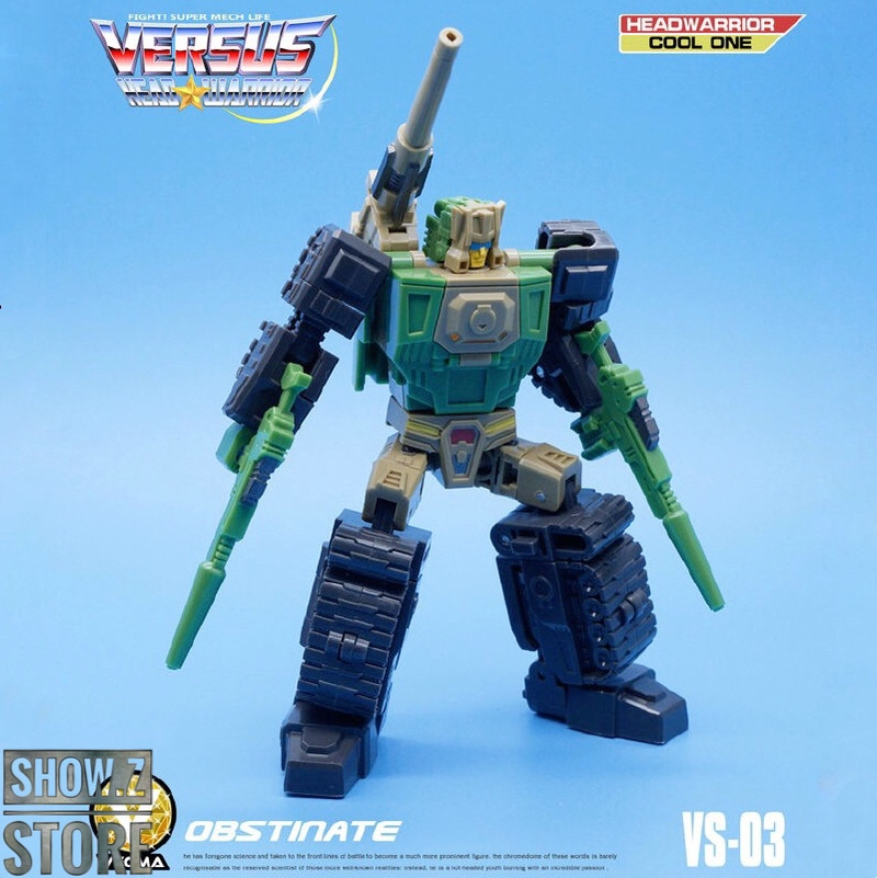 [Show.Z Store] MechFansToys Mech Fans Toys VECMA Toys MFT VS-03 VS03 Obstinate Hardhead Transformation Action Figure