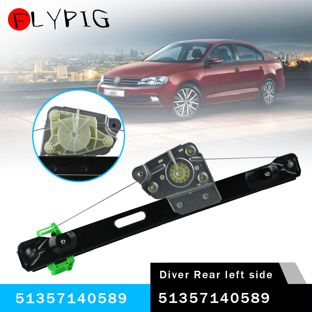 51357140589 Rear Left  Power Window Regulator For BMW 3 Series E90 E91 323i 325i 325xi 328i XDrive 330xi Sedan  135-50136L