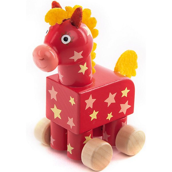 Figurine wooden Wooden Horse Yoke-Go contrast collar eyelet embroidered yoke top