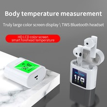 Tws Bluetooth Headset Body Temperature Thermometer Wireless