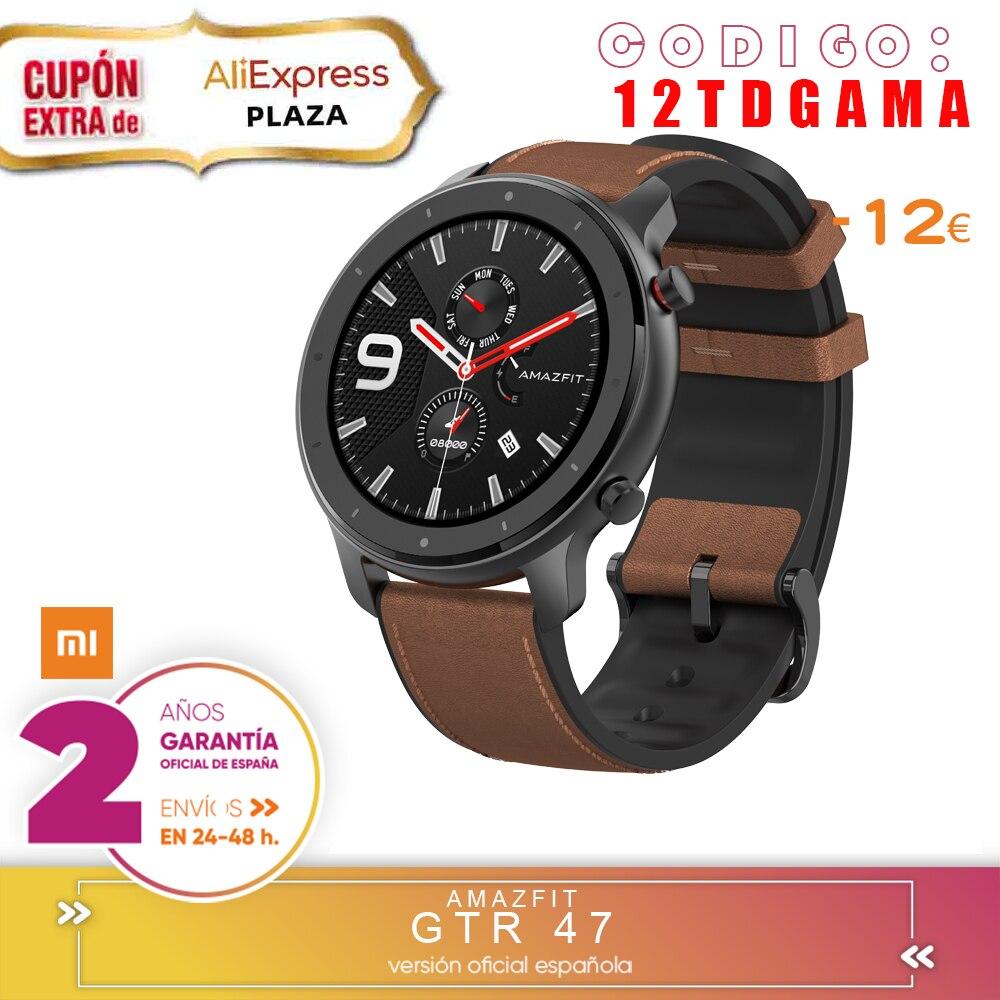 Для Xiaomi Huami AMAZFIT GTR Smartwatch экран retina 5ATM водонепроницаемый gps 47 мм глобальная версия-алюминиевый сплав