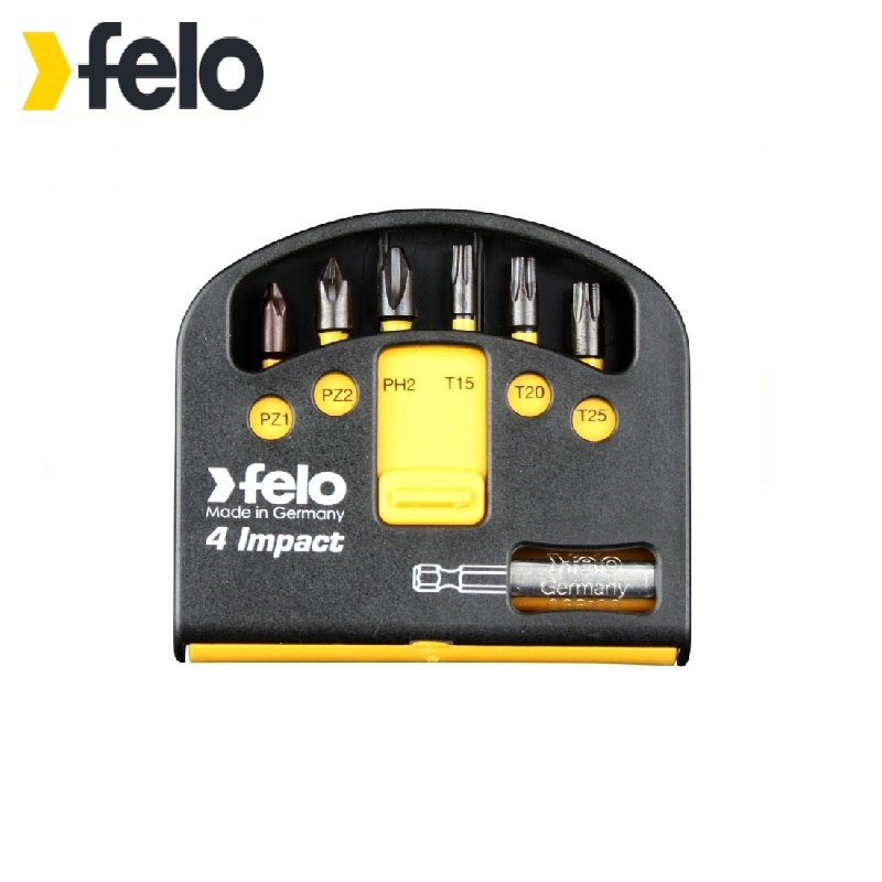Felo Set of percussion bits 6 pcs. Impact series with bit holder 02060146 Power tool bits One-sided  For screwdriver  Spare bit 6 90degree 0 3mm diamond bits with high quality used for cnc router machine