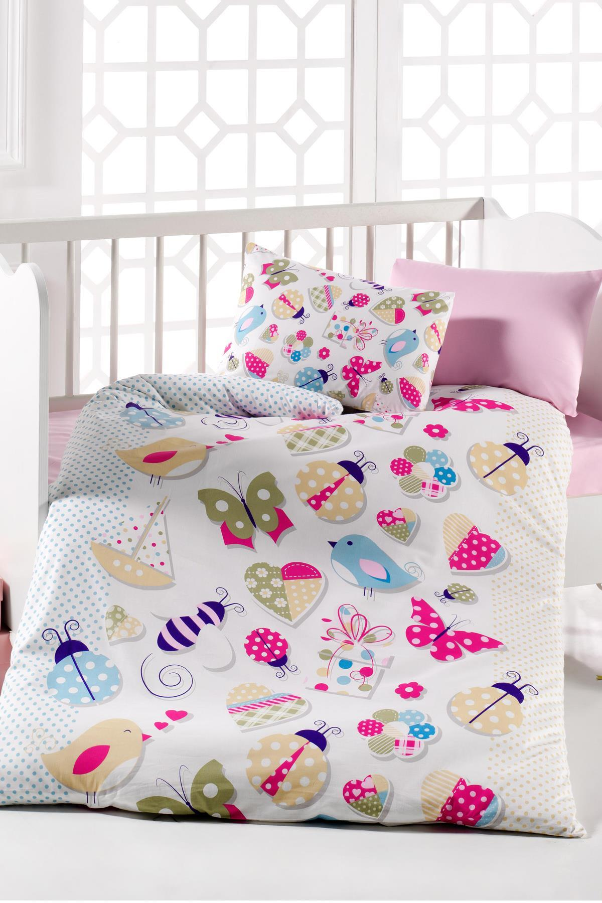 Butterfly 7Parça 100 Cotton Baby Sleep Set