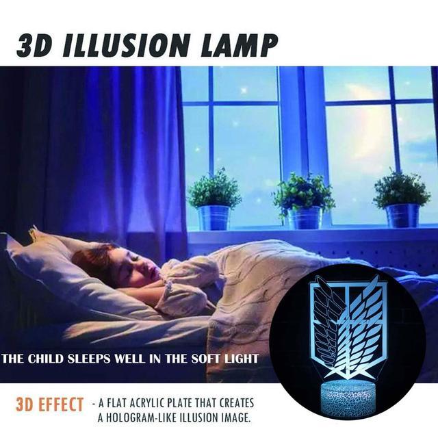 ATTACK ON TITAN 3D LED LAMP