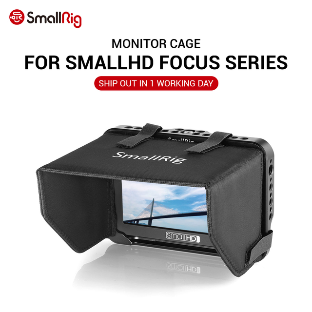 SmallRig DSLR Monitor Della Macchina Fotografica di Serie Gabbia con Mantice per SmallHD di Messa A Fuoco 5