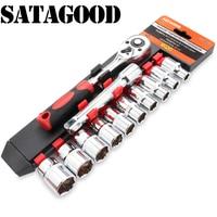 Satagood 12 pcs. socket 헤드 세트 1/2 인치 도구 도구 키트 자동 복구 도구 자동차 도구 키트 헤드 도구 도구 세트 손 도구 ratch|수공구 세트|도구 -