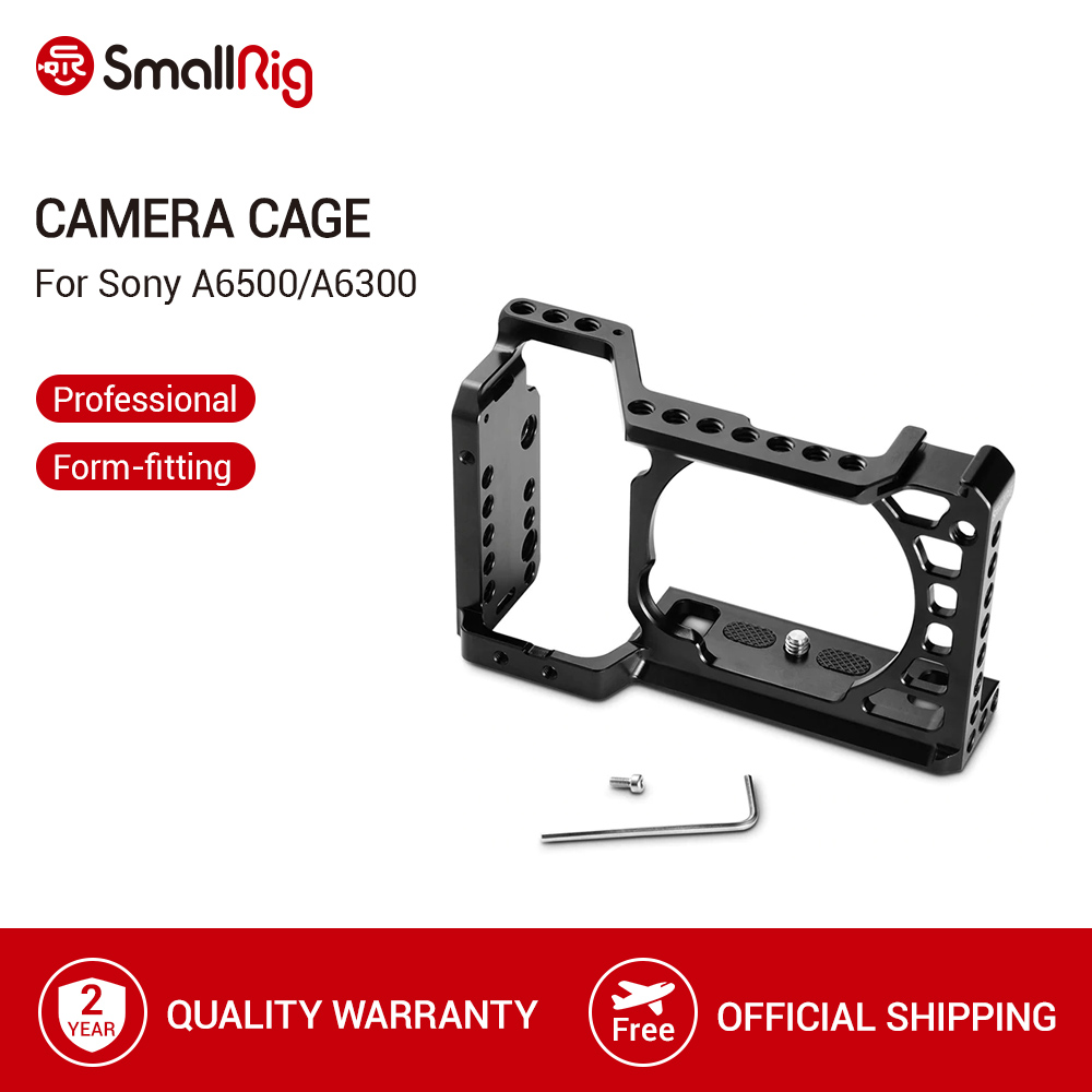 SmallRig For Sony A6500/A6300 Camera Cage Upgraded Version Protective Dslr Camera Rig For Sony A6500 Aluminum Alloy Cage -1889