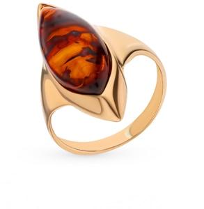 Серебряное кольцо с янтарем SUNLIGHT проба 925