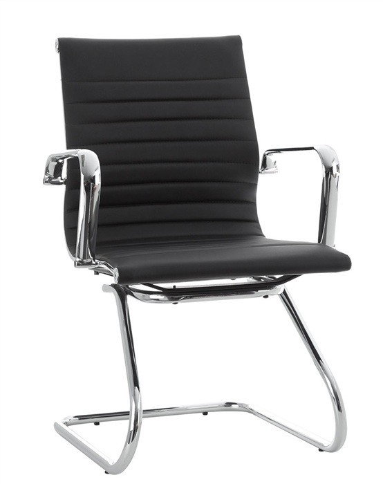Office Armchair ALABAMA Fixed Similpiel Black