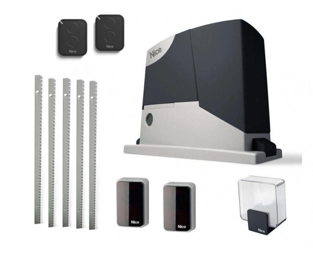 Автоматизация раздвижных ворот Nice RD400 с шириной открытия до 6 м и весом до 400 кг.