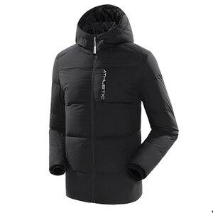 Image 3 - سترة للرجال والنساء للشتاء الدافئ 80% سترة بيضاء بقلنسوة للمشي لمسافات طويلة معطف للخروجات اليومية للرجال والنساء chaqueta hombre