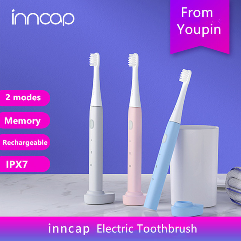 Youpin Mijia Inncap Electric Sonic Toothbrush 2 Modes Rechargeable Smart Memory Vibration Tooth Cleaner Wireless Charging Base