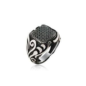 Мужские кольца из серебра 925 пробы Dirilis Ertugrul Kayi, оригинальные популярные кольца с античным узором, серебряное кольцо, Винтажные Ювелирные Из...