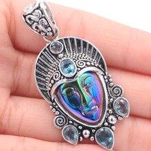 Free Shipping Amazing Egypt Goddess, Green Emerald Silver Pendant
