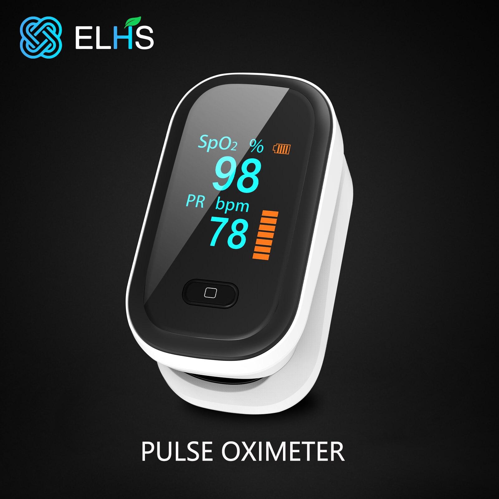 Пульсоксиметр на кончик пальца, прибор для измерения уровня кислорода в крови, профессиональный Пальчиковый, с OLED-экраном пульс аксиметр па...