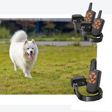 Ошейник для дрессировки собак с дистанционным ударом ошейник для собак большой, средний, маленький-водонепроницаемый E-ошейник с 1/2 ошейниками 100g2280