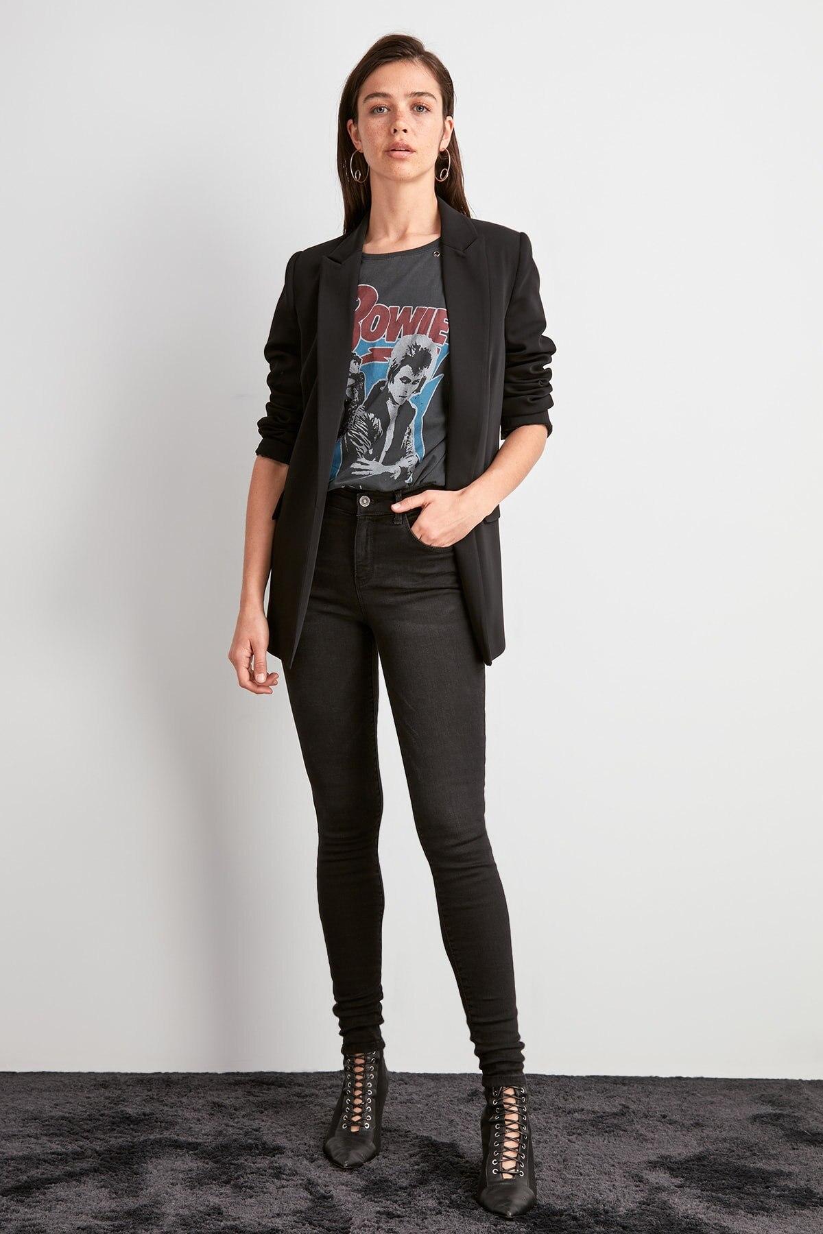 Trendyol High Waist Skinny Jeans TWOAW20JE0491