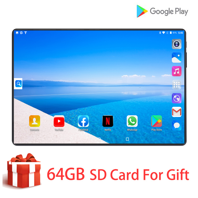 DHL Free Shipping T10 Pro Mobile Phone Tablets Android 9.0 10 Inch Octa Core 6GB RAM 128GB ROM 8MP Dual Camera 4G LTE Tablet 10