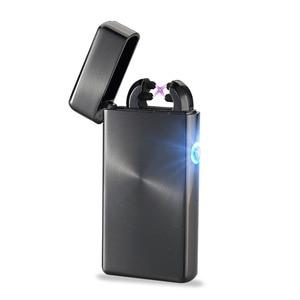 Plasma lighter eternal windproof electronic USB charging 2 arc
