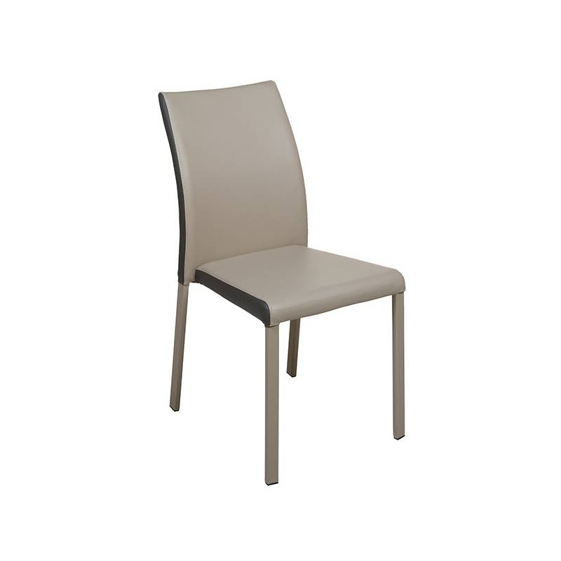 Dining Chair Leatherette Metal (45x45x90 Cm)