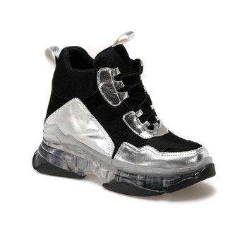 FLO TEXAS srebrne damskie buty z grubej podeszwy BUTIGO tanie i dobre opinie Trzciny