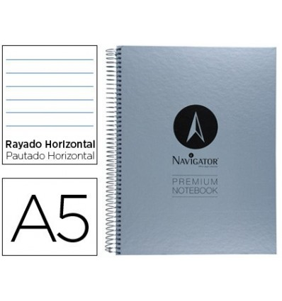 SPIRAL NOTEBOOK NAVIGATOR A5 MICRO LINED TOP 120H 90 HORIZONTAL WITHOUT BANDS 6 DRILLS 9 Units