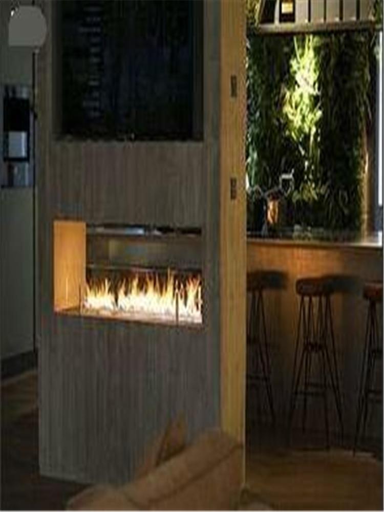 60 Inch Stainless Steel Intelligent Smart Automatic Alexa Wlan Ethanol Fireplace Biokominek